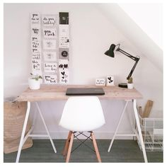 Home Office, Office Desk, News Space, Room Goals, New Room, Office Interiors, House Design, Inspiration, Furniture