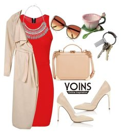 """""""yoins"""" by elly-852 ❤ liked on Polyvore featuring Miss Selfridge, Aspinal of London, CB2 and River Island"""