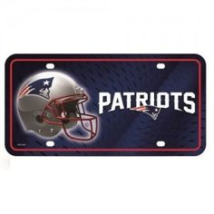 New England Patriots Primary Logo Metal License Plate