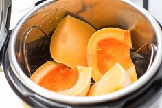 Hate peeling and dicing hard butternut squash? Steam it in the pressure cooker instead! Perfect for any recipe that calls for pureed or mashed butternut squash. #ButternutSquash #InstantPot #PressureCookerRecipe