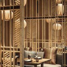 Four Seasons Hotel Seoul - Preciosa Lighting Installation Japanese Restaurant Design, Restaurant Interior Design, Hotel Four Seasons, Hotel Ceiling, Seasons Restaurant, Restaurant Lighting, Hotel Interiors, Commercial Interiors, Luxury Apartments