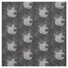 #Personalize Halloween Diva Ghost  Nubby Black (S) Fabric - #Halloween happy halloween #festival #party #holiday