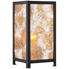 Modern Mica Accent Table Lamp
