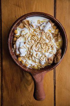 Fattet Hummus (Chickpeas with Pita and Spiced Yogurt)