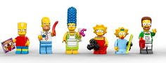 LEGO sets of the Simpsons family and Ned Flanders Lego Simpsons, Homer And Marge, Homer Simpson, Lego Toys, Lego Duplo, Ned Flanders, Whiskers On Kittens, Tk Maxx, Cool Lego