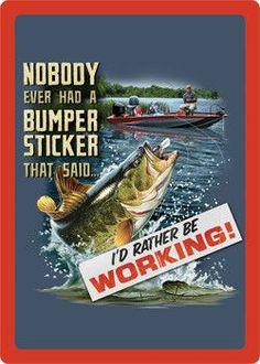 Fishin Bumper Sticker