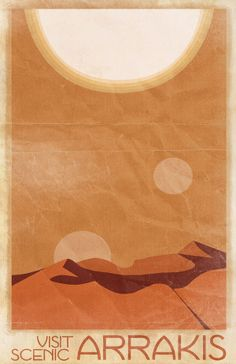 *** simple colour scheme. Have playful elements such as 2 moons or an extra sun? Mirrored landscapes?