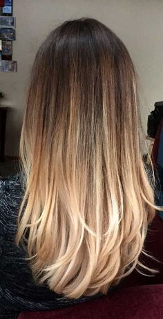 Bayalaged straight hairstyles are trending on Pinterest.