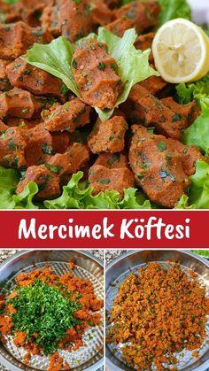 Herşeyiyle Tam Ölçüsünde Mercimekli Köfte Tarifi - Nefis Yemek Tarifleri Tandoori Chicken, Pasta, Ethnic Recipes, Food, Essen, Meals, Yemek, Eten, Pasta Recipes