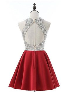 Discount Appealing Red Homecoming Dresses, A-line Silver Beaded Top Red Satin Halter Homecoming DressesDetails FAQ Measure It can be made in other colors,you can contact with us when you want other colors,please contact us Details:Open Back Lined:Yes Red Quinceanera Dresses, Dama Dresses, Hoco Dresses, Wedding Dresses, Backless Homecoming Dresses, Mint Bridesmaid Dresses, Homcoming Dresses, Promotion Dresses, Social Dresses