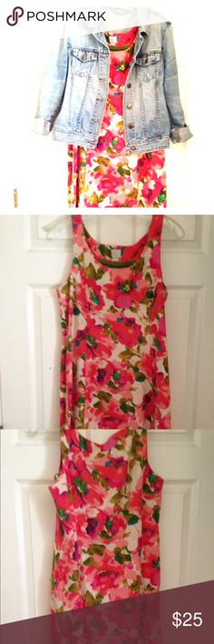 Anthropologie Floral dress Gorgeous print. I love this dress! EUC! Only worn a handful of times. It is a thicker material, perfect for spring and fall with a denim jacket and with nothing for summer! Anthropologie Dresses