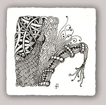 Sampe of a Zentangle - Maria Thomas