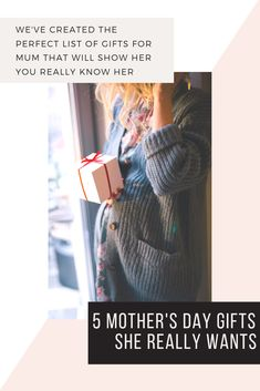 5 Mother's Day 2019 gift ideas that mums actually want Unique Mothers Day Gifts, Gifts For Mum, Unique Gifts, Morhers Day Gifts, Perfect Mother's Day Gift, Waiting For Her, Family First, Surprise Gifts