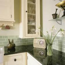 cream shaker kitchen green walls - Google Search