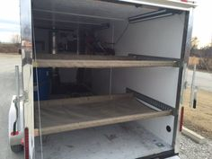 Enclosed Trailer Beds E Track Custom Hammock Beds For Enclosed Trailer Expedition - LA Beds Utility Trailer Camper, Toy Hauler Camper, Trailer Diy, Trailer Storage, Trailer Plans, Trailer Build, Snowmobile Trailers, Motorcycle Trailer, Cargo Trailers