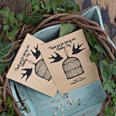 These super cute seed packet favours from Wedding in a Teacup would fit right in with your day if you're including lots of whimsical décor details.