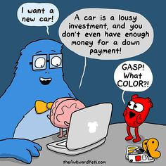Heart Vs. Brain: Funny Webcomic Shows Constant Battle Between Our Intellect And…