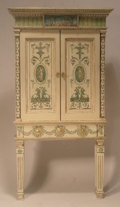 Adam Cabinet by Janet Reyburn (love the restrained colouring on this piece.. beautiful!)