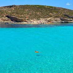 The crystal clear waters of the Blue Lagoon, Malta