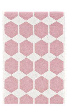 Anna Outdoor rug - 70 x 100 cm - Reversible Pink / White by Brita Sweden