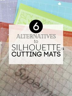 There are several Silhouette Cutting Mat alternatives if you're looking for a longer lasting mat, mat with a different adhesive strength, or. Silhouette Curio, Silhouette Vinyl, Silhouette Machine, Silhouette Design, Silhouette Files, Silhouette America, Silhouette Cameo Tutorials, Silhouette Projects, Silhouette School Blog