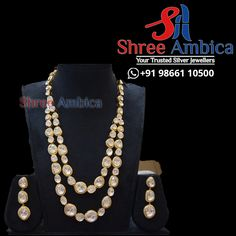 When you want to go minimal yet standout from the crowd. This long necklace from Shree Ambiica - Your Trusted Jewellers should be your perfect choice! Readily available in stock Call/WhatsApp - 91986611050 #ShreeAmbica #silver #silverjewellery #trustedjewellery #jewellerylover #brides #925silver #czjewellery #exclusivejewellery #elegantjewellery #trendingjewellery #classyjewellery #royaljewellery #bridaljewellery #wedding #weddingjewellery #hyderabadshopping #southindianbride 925 Silver, Silver Jewelry, South Indian Bride, Jewellery Designs, Wedding Jewelry, Crowd, Brides, Pearl Necklace, Minimal
