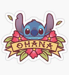 Sticker by freetoedit ohana stitch lilo lilo&stitch hawaii Lilo And Stich, Lilo And Stitch Drawings, Lilo And Stitch Tattoo, Ohana, Cartoon Stickers, Cute Stickers, Disney Drawings, Cute Drawings, Disney Doodles