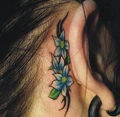 flower tattoo I do love this flower tattoo, I do want to get a tattoo like this one, behind my ear, just not sure what yet.