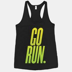 #gorun #run #ombre #green #running #runner #fitspiration #tee #tank #racerback Go Run from Activate Apparel