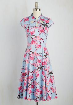 1930s style modest day dress. Cheer in Review Dress $84.99 AT vintagedancer.com