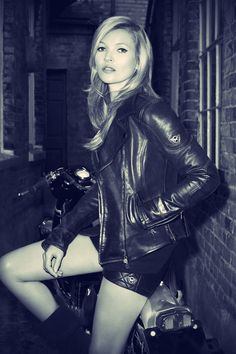 Kate Moss for Matchless London 2013 Photo By Terry Richardson