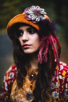 Sannainspires Artisan Hats Pumpkin Velvet Cloche with Flower and Feather Pin 95e34ec7cd10