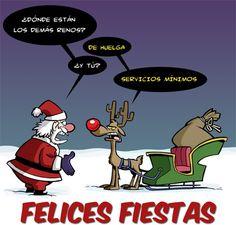 chiste grafico navidad huelga reno Inspirational Phrases, Funny Phrases, Spanish Memes, Funny Cards, Christmas Humor, Movie Posters, Edvard Munch, Chile, Google