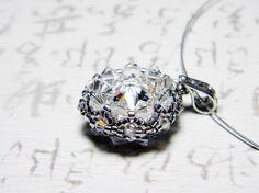 The Rock - Swarovski Crystal Rivoli pendant