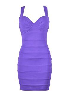 CROSS BACK BODYCON DRESS - Ally Fashion