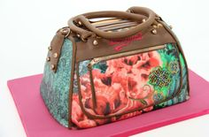 Desigual Bag - by Katerina @ CakesDecor.com - cake decorating website