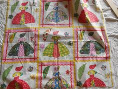 Vintage Southern Belle QUILT TOP Cotton Fabric, Polished Cotton Fabric, 3 YDS #Unbranded