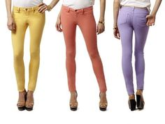 Colored Skinny Jeans by BE-1. Considering getting the Peach ones...