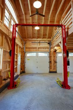 Garage Lift, Pole Barn Garage, Mechanic Garage, Garage Shed, Garage House Plans, Pole Barn Homes, Detached Garage, Garage Workbench, Garage Workshop Plans