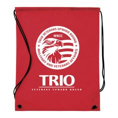 $1 Nonwoven Drawstring Cinch-Up Backpack Western NE Community College #TRIOworks