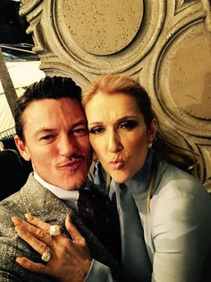 Luke Evans & Celine Dion at the Beauty and the Beast LA premier