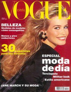 Claudia Schiffer by Marco Glaviano Vogue España October 1992