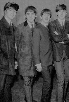 beatlesy:  The Beatles at Heathrow Airport in London on February 5, 1964.