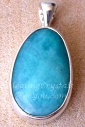 Blue Peruvian Amazonite Pendant, This Crystal May Help You To Relieve Your Stress