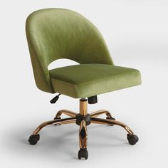 Green Velvet Cosmo Upholstered Office Chair - Fabric by Worl.- Green Velvet Cosmo Upholstered Office Chair – Fabric by World Market Green Velvet Cosmo Upholstered Office Chair – Fabric by World Market - Home Office Furniture Desk, Best Office Chair, Home Office Chairs, Home Office Decor, Home Decor, Office Desk, Velvet Office Chair, Velvet Chairs, Retro Office Chair
