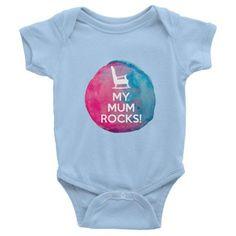 My Mum Rocks designer baby onesie, clothes