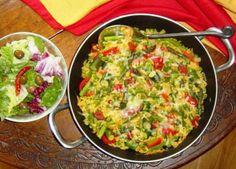 Paella Primavera With Chorizo