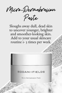 This sugar and salt-based face and body scrub sloughs away dull, dead skin cells and encourages younger, more vibrant cells to the so you see brighter. Skin Firming, Skin Brightening, Rodan And Fields Microdermabrasion, Rodan And Fields Canada, Rodan Fields Skin Care, Rodan And Fields Business, Rodan And Fields Consultant, Combination Skin, Dead Skin