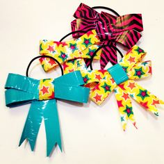 DIY bows made of duct tape