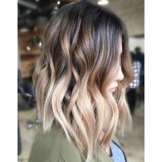 90 Balayage Hair Color Ideas with Blonde, Brown and Caramel Highlights ❤ liked on Polyvore featuring beauty products, haircare and hair